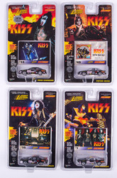 KISS Johnny Lightning Cars - Stock Cars, Set of 4, (cards #7,32,35 and 49)
