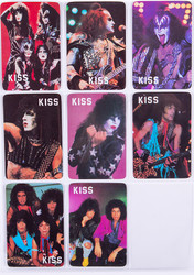 KISS Calendar Cards - Portugal 1988, set of 8