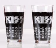 KISS Pint Glass - Icons, set of 2