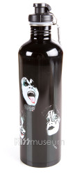 KISS Water Bottle - Black Stainless Steel