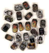 KISS Rock Tags Pendants, set of 24