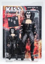 KISS Figures - First Album, Gene Simmons Demon, 2 pack, 8 &12 inch
