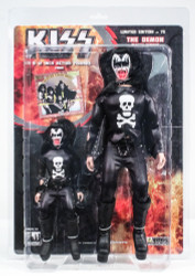 KISS Figures - Hotter than Hell, blood variants, Gene Simmons Demon, 2 pack, 8 &12 inch