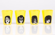KISS Shotglass - Yellow, set of 4