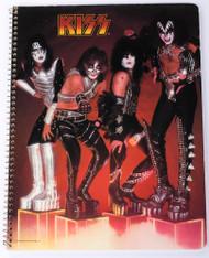 KISS Spiral Notebook - KISS on Cubes 1977