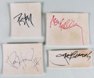 KISS Autographs - Ace, Gene, Peter and Paul on cards from mid-70s