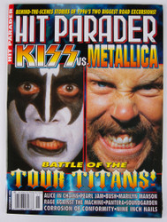 KISS Magazine - Hit Parader KISS vs Metallica