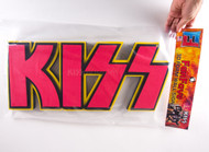 KISS 3D Logo Foam Wall Sign - Red