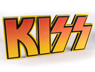 "KISS 3D Logo Foam Wall Sign, 22"" - Orange/Yellow Fade"