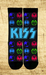 KISS Socks - Black Icons