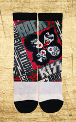 KISS Socks - Rock and Roll Over