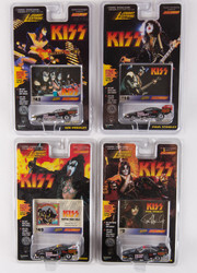 KISS Johnny Lightning Cars - Dragster Cars, Set of 4, (cards #43, 10, 49 and 2)