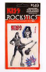 KISS Stickers - Rockstics Puffy Stickers 1978, Ace Frehley, sealed and unpunched