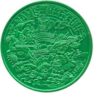 KISS Mardi Gras Coin - Name That Tune, 2005, (green)
