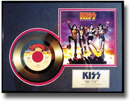 Kiss Gold Record Beth 45 Kiss Museum