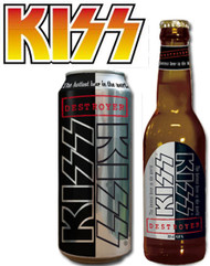 KISS Beer - Bottle and Can, set of 2 (empty)