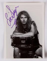 KISS Autograph - Eric Singer Postcard (b)