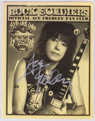 KISS Autograph - Ace Frehley Rock Soldiers Magazine  #1