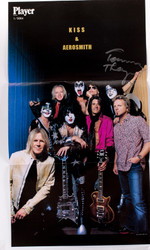 KISS Autograph - Tommy Thayer on Magazine Centerfold