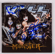 KISS Autograph - Monster CD, all 4 current members