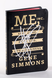KISS Autograph - Gene Simmons Me Inc book
