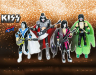 KISS Figures- 3 3/4 inch DYNASTY, set of 4