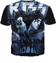 KISS T-Shirt - Monster Blue, (all-over print)