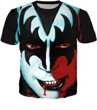 KISS T-Shirt - Gene Face, (all-over print)
