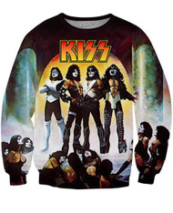 KISS Sweat Shirt - Love Gun - SIZE MEDIUM