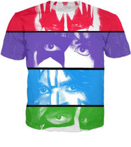 KISS T-Shirt - Color Eyes, (double-sided, all-over print)