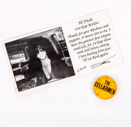 "Eric Carr ""Thank You"" Card Sent to Fans PLUS The Cellerman button, (Eric's band before KISS)"