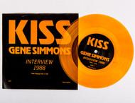 "KISS Vinyl - Gene Simmons Interview 1988, orange vinyl 45 rpm 7"""