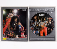 KISS Vinyl Record - Rock Sagas Chris Tetley Interview 1988 on rectangular vinyl picture disc, set of 2
