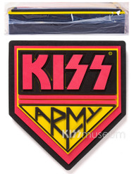 "KISS 3D Logo Foam Wall Sign, 22"" - KISS Army, DOUBLE THICKNESS"