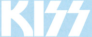 KISS Rub-On Decal - White KISS Logo