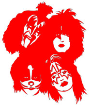 KISS Rub-On Decal - Red KISS Faces