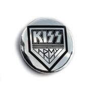 KISS Button - KISS Army Chrome