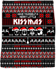 "KISS Blanket - Merry Little KISSmas, 47"" x 57"""