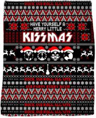 """KISS Blanket - Merry Little KISSmas, 47"""" x 57"""""""