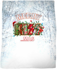 "KISS Blanket - KISSmas Logo, 47"" x 57"""