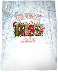 """KISS Blanket - KISSmas Logo, 47"""" x 57"""""""