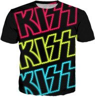KISS T-Shirt - KISS Neon Logo, (all-over print)