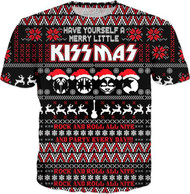 KISS T-Shirt - Merry Little KISSmas, (all-over print)