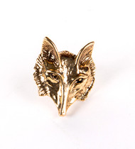 Eric Carr Fox Pendant - Gold, (no card).