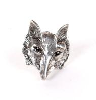 Eric Carr Fox Pendant - Silver, (no card).