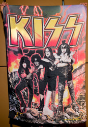 KISS Banner - Fire and Lightning