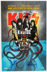 KISS Autographed Poster - Signed by Paul, Gene, Eric and Tommy, KISS Kruise IV, (8/10)