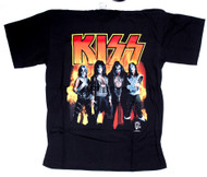 KISS T-Shirt - Reunion Flames, size L