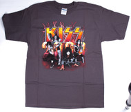 KISS T-Shirt - KISS 2000, brown, size L