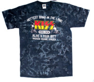KISS T-Shirt - KISS Road Crew Alive II, Tie-Dye, size M